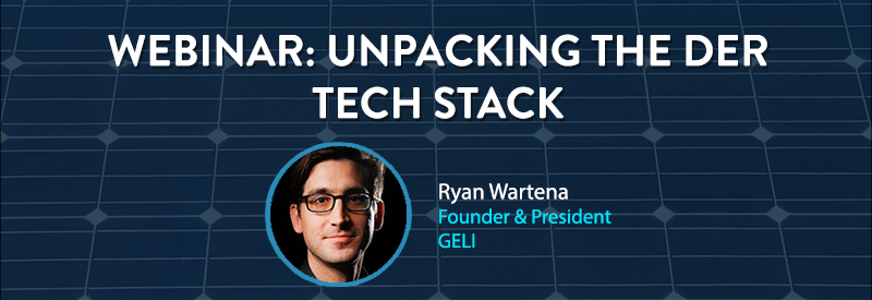 unpacking the DER tech stack website header