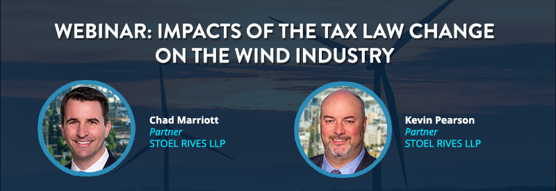 Impacts of the Tax Law Change on the Wind Industry HEADER