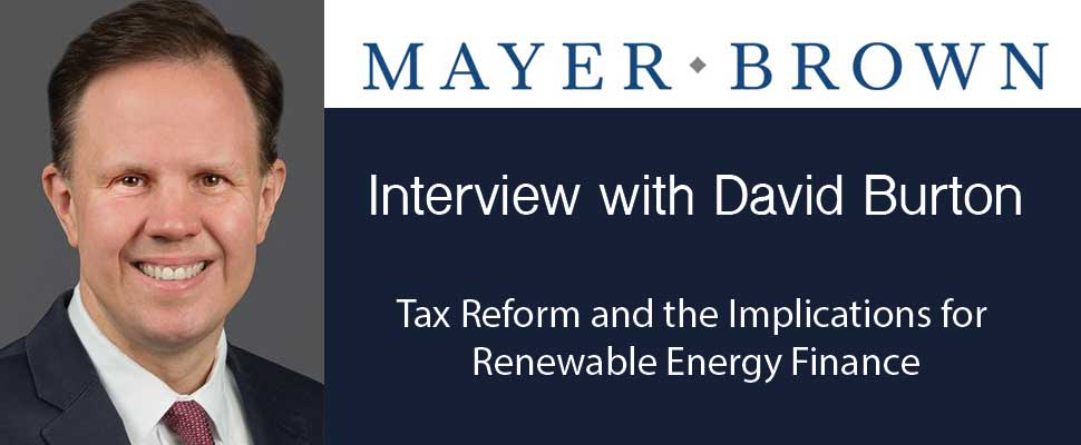 Tax Reform and Implications for Renewable Energy Finance