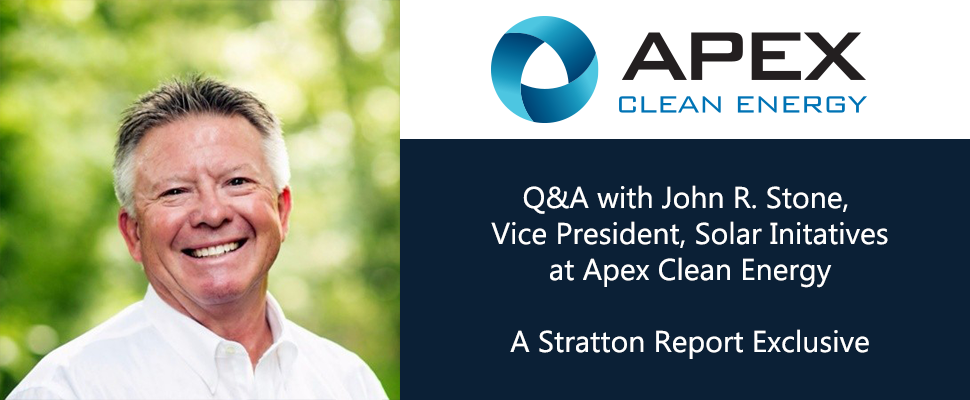 Insights with John R Stone, Vice President, Solar Initiatives at Apex Clean Energy