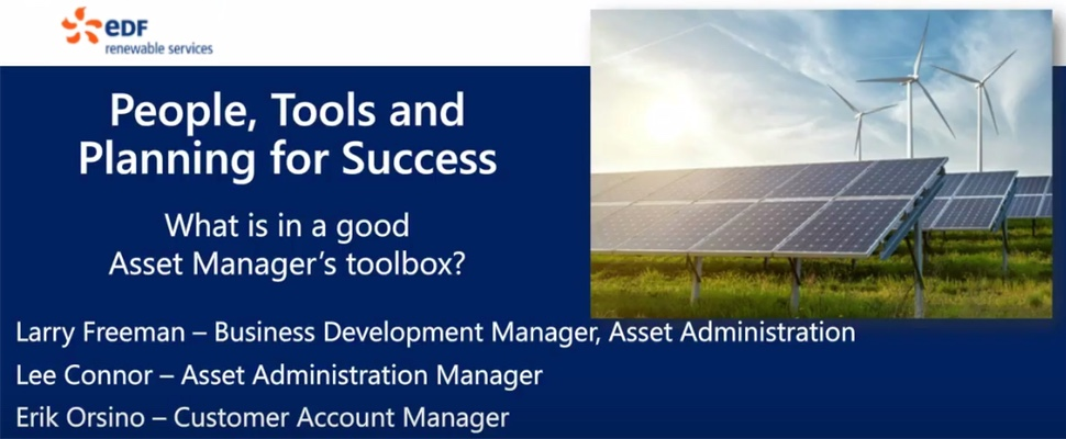 EDF Renewables: People, Tools, and Planning for Success in Asset Management
