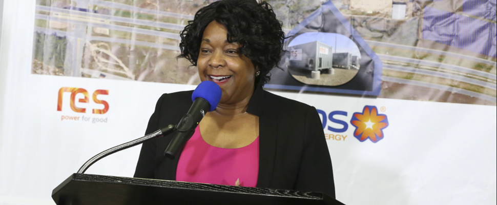 CPS Energy President and CEO, Paula Gold-Williams, announces plans for the utility's first solar plus battery storage project in San Antonio, TX.